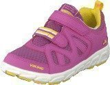 Viking Riptide Velcro Dark Pink/Yellow