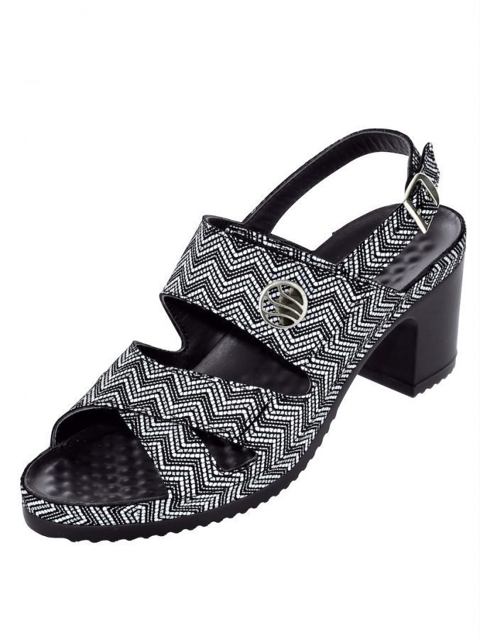 Vital Sandaletit Musta / Valkoinen